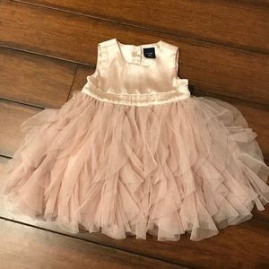 BabyGap light pink ruffle dress
